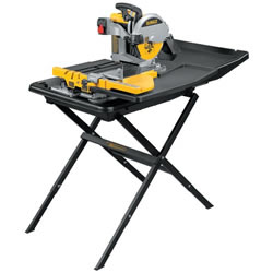"Heavy-Duty 10"" Wet Tile Saw with Stand"